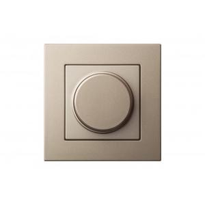 Диммер (светорeгулятор) поворотный 600W, без рамки, EPSILON шампань