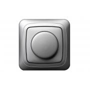 Поворотный диммер (светорeгулятор) 600W, с рамкой, ALFA металлик