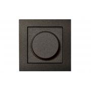 Диммер (светорeгулятор) поворотный 400W, без рамки, EPSILON антрацит