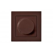 Диммер (светорeгулятор) поворотный 100W, без рамки, EPSILON коричневый