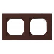 Рамка 2-местная, EPSILON коричневый