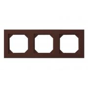 Рамка 3-местная, EPSILON коричневый