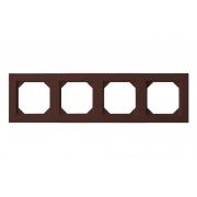 Рамка 4-местная, EPSILON коричневый