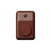 Дверной звонок со световым индикатором, коричневый