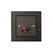 Розетка аудио, без рамки, EPSILON антрацит