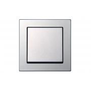 Выключатель 1-клавишный IP44, без рамки, EPSILON металлик