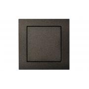 Выключатель 1-клавишный IP44, без рамки, EPSILON антрацит