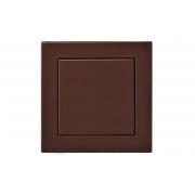Выключатель 1-клавишный, led-подсветка, без рамки, EPSILON коричневый