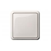 Выключатель 1-клавишный, с рамкой, GAMA белый