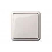 Выключатель 1-клавишный, led-подсветка, без рамки, GAMA белый
