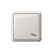 Переключатель 1-клавишный, без рамки, GAMA белый