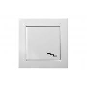 Переключатель 1-клавишный, без рамки, EPSILON белый