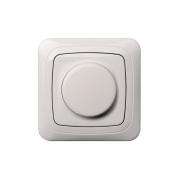 Поворотный диммер (светорeгулятор) 600W, без рамки, ALFA белый