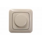 Поворотный диммер (светорeгулятор) 600W, без рамки, ALFA песочный