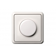 Поворотный диммер (светорeгулятор) 400W, без рамки, GAMA белый