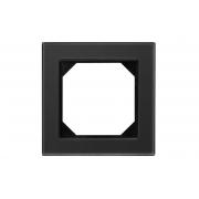 Рамка 1-местная, EPSILON стекло черное матовое