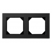 Рамка 2-местная, EPSILON стекло черное матовое