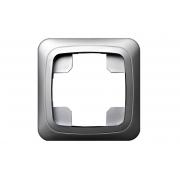Рамка 1-местная, ALFA металлик