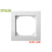 Рамка 1–местная SlimLine, EPSILON белый