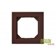Рамка 1–местная SlimLine, EPSILON коричневый