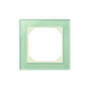 Рамка 1-местная, EPSILON стекло натуральное матовое