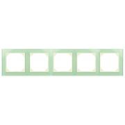 Рамка 5-местная, EPSILON стекло натуральное матовое