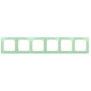Рамка 6-местная, EPSILON стекло натуральное матовое (в пленке)