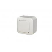 Выключатель 1-клавишный, открытого монтажа, ALFA белый