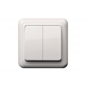 Выключатель для жалюзи, открытого монтажа, DELTA белый
