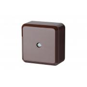 Коробка распределительная 60x60мм, коричневого цвета