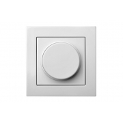 Диммер (светорeгулятор) поворотный 100W, без рамки, EPSILON белый