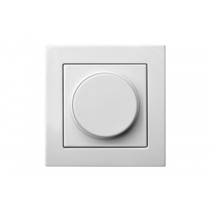 Диммер (светорeгулятор) поворотный 400W, без рамки, EPSILON белый